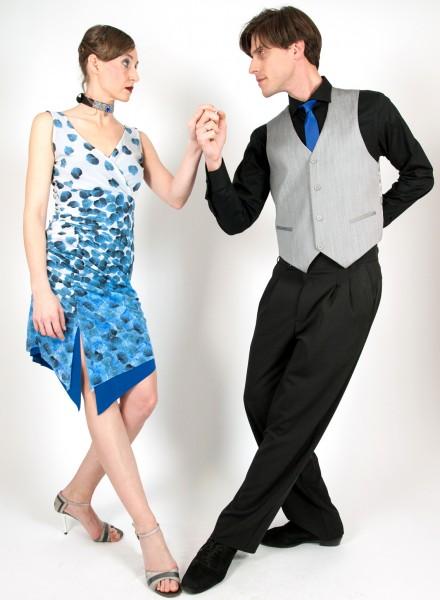 Madame Ivonne Pétalo Azul abito tango donna