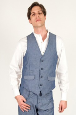 Gilet Dango's chambray