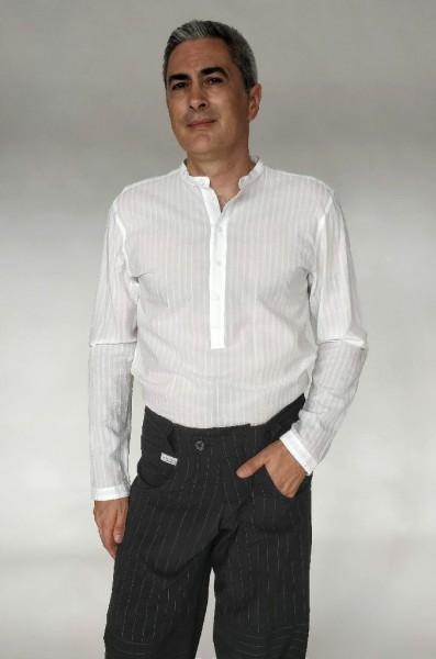 Camicia coreana bianca