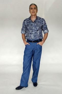 Pantalone tango bluette