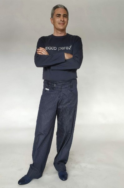 Pantalone jeans gessato