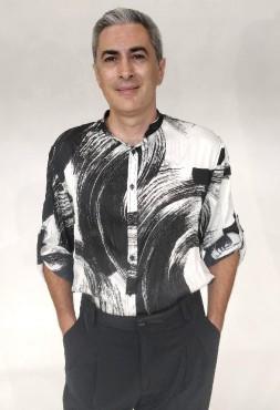 Camicia coreana raso